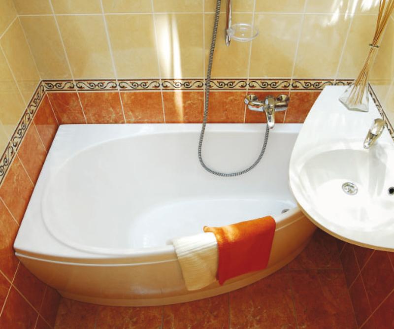 Маленькая ванная комната классика фото